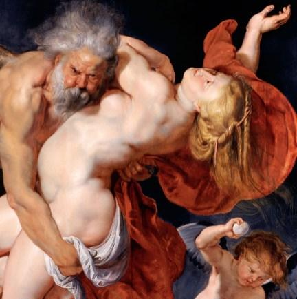 Boreas and Orithyia, Rubens. Vienna, Gemäldegalerie der Akademie der bildenden Künste