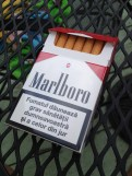 """I ran out of smokes and """"borrowed"""" a pack from my sister. Apparently these come from Moldova. I am convinced it's a made up country."""
