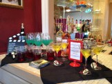 Specialty drinks. The blue babies represent the movie The Impossible. There was even a swedish fish in each glass!