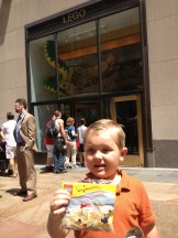 Someone got a trip to the Lego Store!