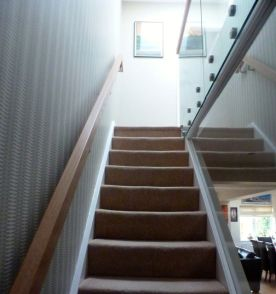 stairwell with glass balustrade tulse hill