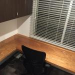 Harwood Menuisier bureau flottant bois meuble