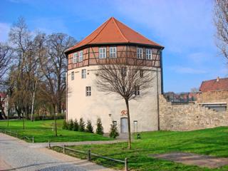 Bild: Das Rondell am Doktor-Wilhelm-Külz-Platz in Aschersleben.