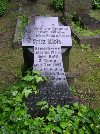 Bild: Kriegergrab auf den Alten Friedhof, dem campo santo, in Eisleben.