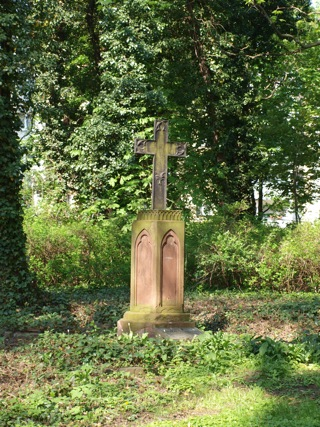 Bild: Grabstätte auf dem campo santo von Eisleben.