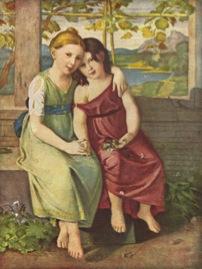 Bild: Adelheid und Gabriele von Humboldt.