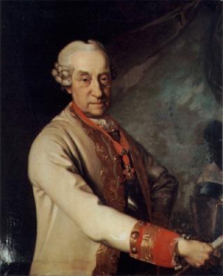 Bild: Porträt des Joseph Friedrich von Sachsen-Hildburghausen (1702-1787). Gemälde eines unbekannten Künstlers, vor 1768. Dieses Bild ist gemeinfrei, weil seine urheberrechtliche Schutzfrist abgelaufen ist.