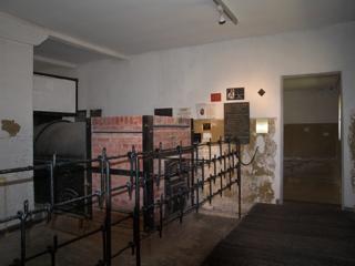 Bild: Im ehemaligen Krematorium des Konzentrationslagers Mittelbau-Dora bei Nordhausen.