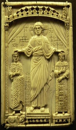 Bild: Otto II. und Theophanu erhalten die Kaiserkrone aus den Händen Christi. Dieses Bild steht unter der GNU Free Documentation Licence.