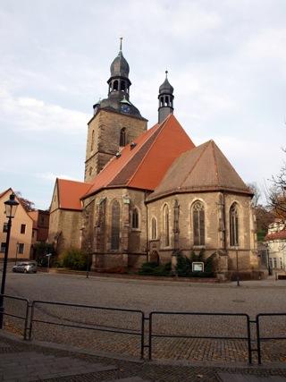 Bild: Die Kirche St. Jakobi am Markt zu Hettstedt.