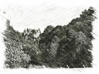 Bild: Das Dorf Rammelburg im Unterharz mit seinem imposanten Schloss war der Geburtsort des Fortswissenschaftlers Friedrich Wilhelm Leopold Pfeil.