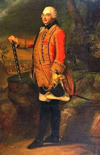 Bild: Porträt des Charles de Rohan, Prince de Soubise (1715-1787). Ausschnitt aus einem Gemälde eines unbekannten Künstlers. Die Truppen des Marschalls von Frankreich wurden durch preußische Soldaten unter Friedrich II. bei Rossbach vernichtend geschlagen. Dieses Bild ist gemeinfrei, weil seine urheberrechtliche Schutzfrist abgelaufen ist.