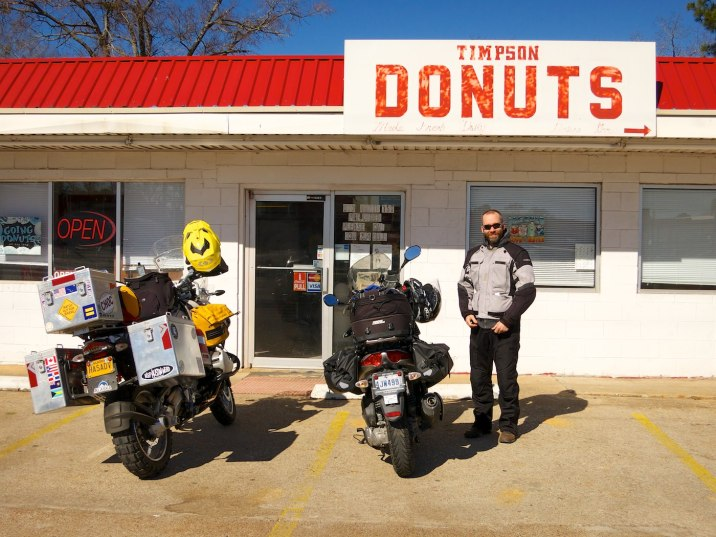 Best donut and jalapeño sausage kolache breakfast for hundreds of miles here in Timpson, Texas.