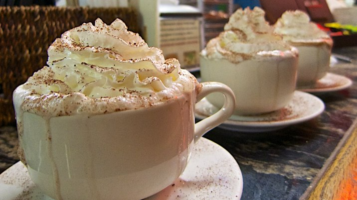 "Hot chocolate with ""the works"" at Mazzaro's Italian Market."