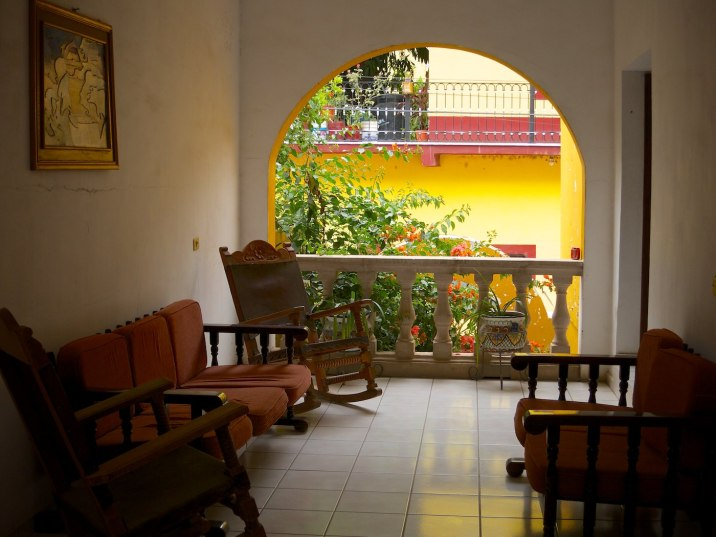 The sitting area outside my room at the Hotel Juanitas in Batopilas.