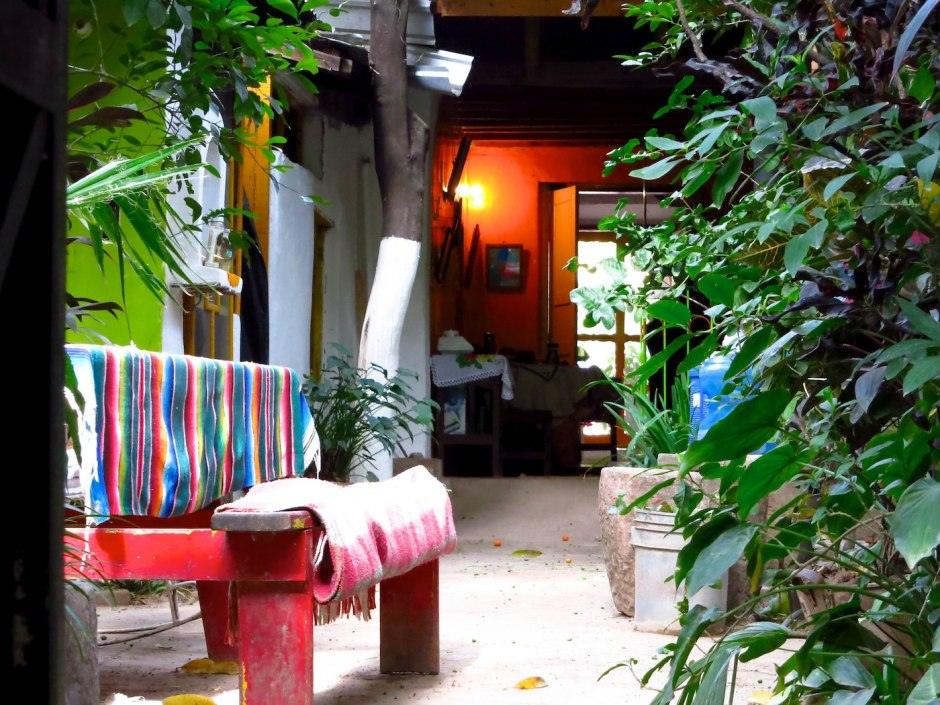 The open-air layout of La Casa Monse makes being inside like being outside.