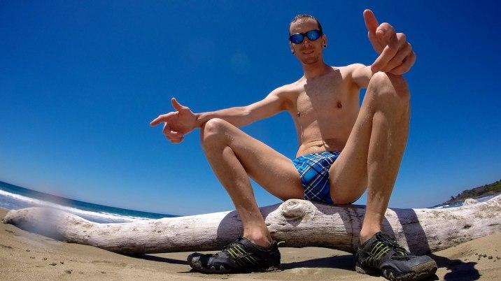 Sitting on a log, yo.