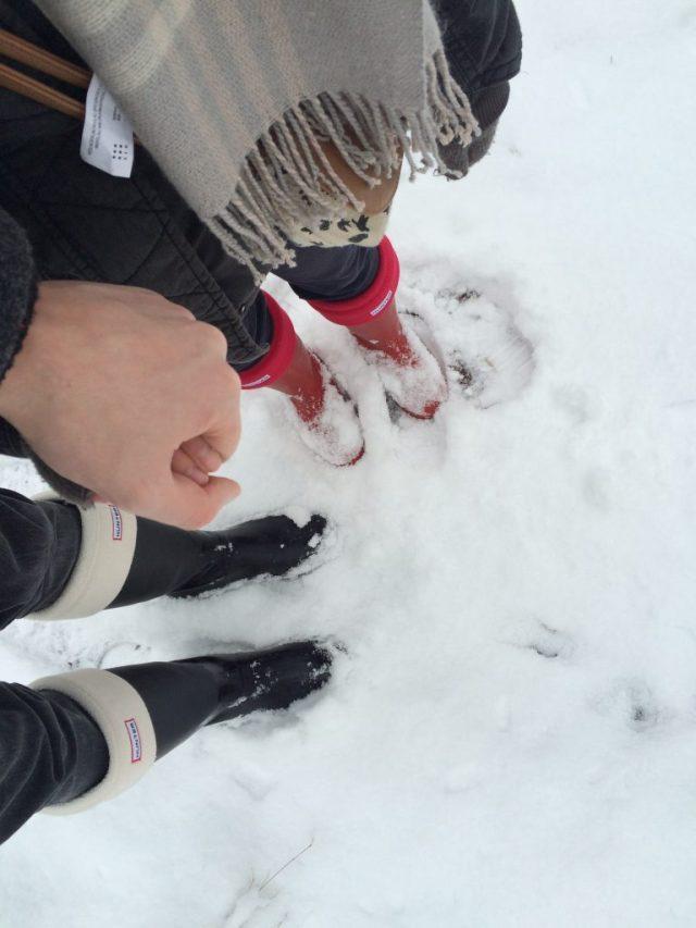Hunter Gummistiefel Schnee Socken