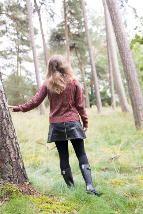 Hunter Gummistiefel Herbst Wald Outfit