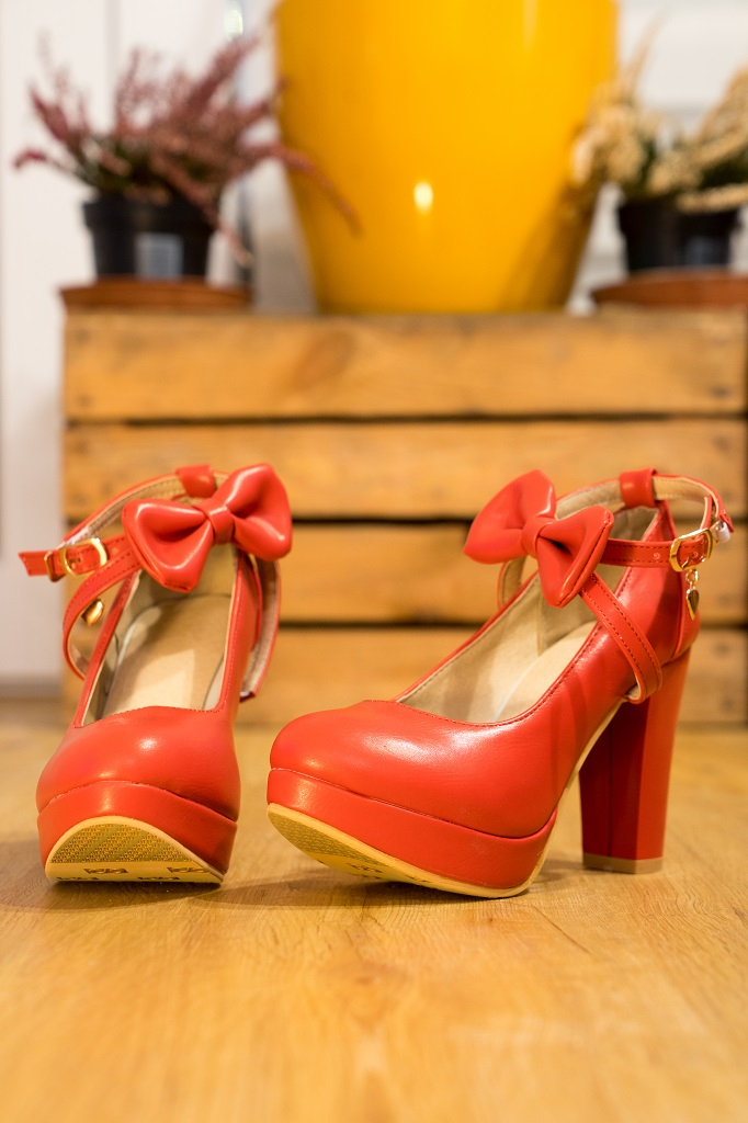 Schuhe Untergrößen Pumps Rot