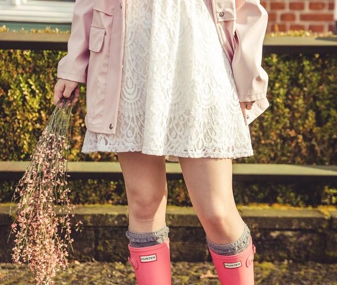 Gummistiefel Frühling Hunter rosa 2