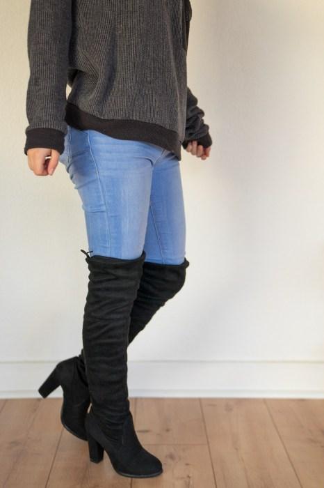Overkneestiefel Overknee Stiefel untergröße kleine Frauen casual 1
