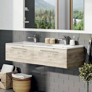 szafka z umywalką dwukomorową sanremo