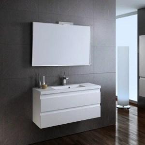 biała szafka łazienkowa z umywalka bezuchwytowa 100 cm