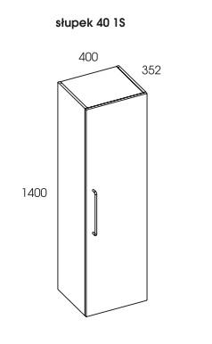 rozmiar regał łazienkowy futuris 40 cm
