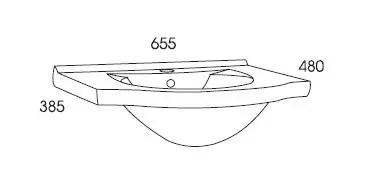 wymiary umywalki ceramicznej rio 65 elita