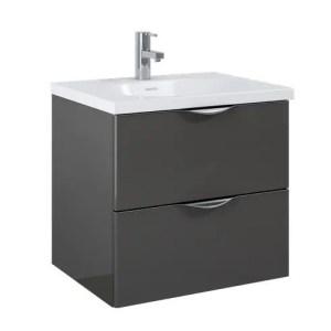 szafka z umywalka ambio 60 podwieszana dimgray szara elita