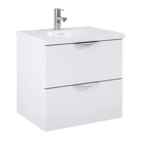 szafka z umywalka ambio 60 podwieszana white biala elita