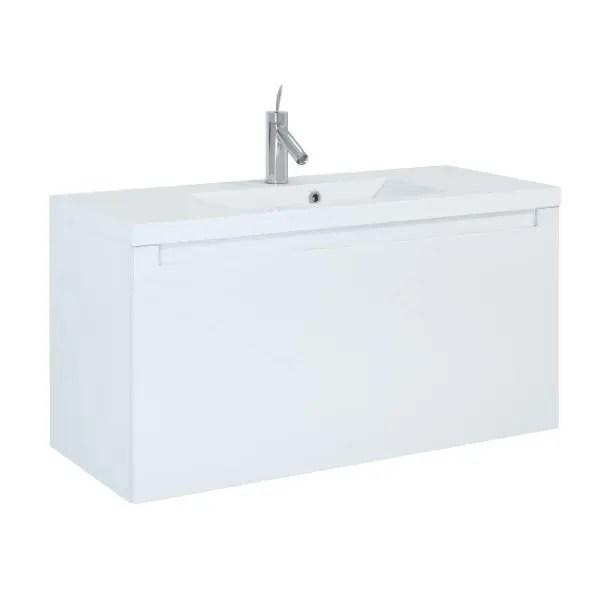 szafka z umywalka serenity 100 white biala lakier polysk elita