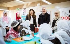 الملكة تزور مدرسة البيادر الثانوية المهنية للبنات