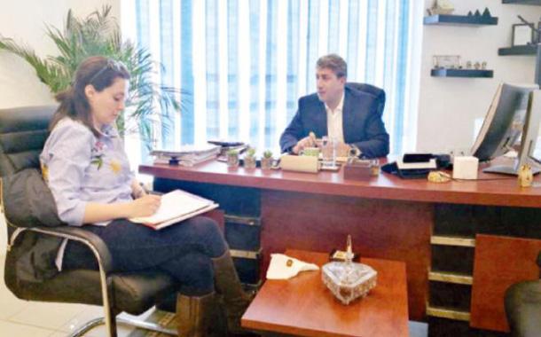 المدير التنفيذي لشركة إثمار للتمويل الإسلامي زياد الرفاعي يتحدث للزميلة بيبرس - (الغد)