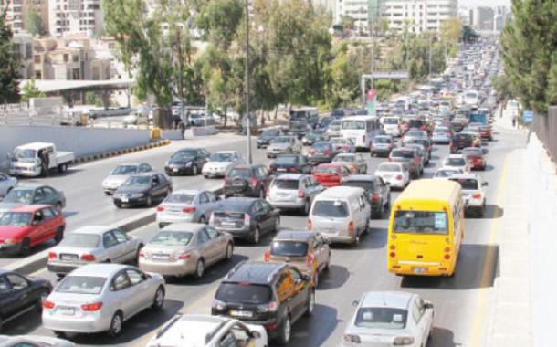 أزمة سير في العاصمة عمان - (تصوير- امجد الطويل)