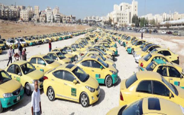 جانب من اعتصام سائقي التاكسي - ارشيفية - (تصوير- أسامة الرفاعي)