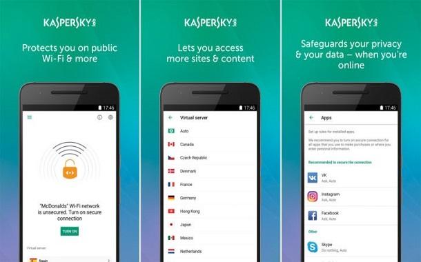 Secure Connection تطبيق VPN مجاني من كاسبرسكي