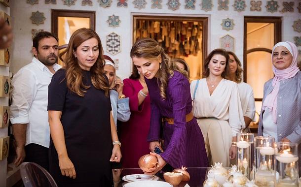 الملكة رانيا العبدالله تفتتح المعرض السنوي لمؤسسة نهر الاردن