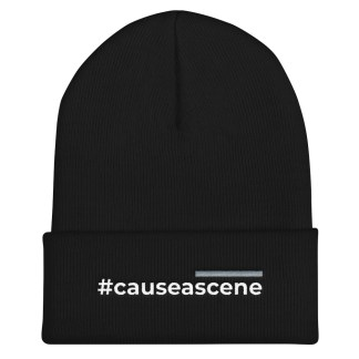 #causeascene embroidered knit cap