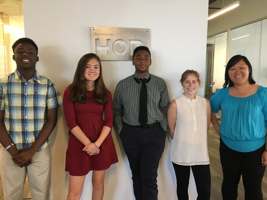 Hashtagitude hosted four high school students through the Operation Perfect Beginnings program via the City and Country of Denver's Office of Economic Development.