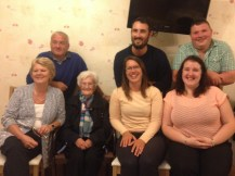 Another lovely family snap (Caitriona and Danny are on the far right)