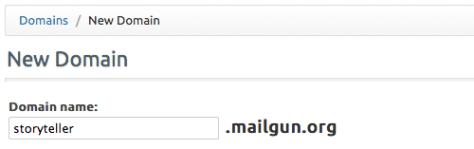 Configure your Mailgun Domain