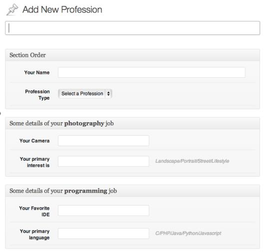 The Profession Screen
