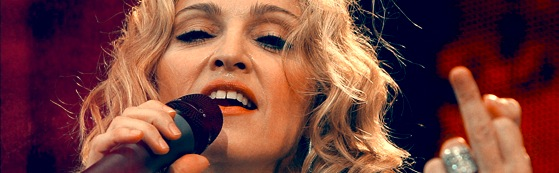 Madonna and the finger