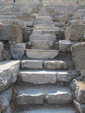 Patience attains all things. Stone steps leading up, up, up to the higher seats inside the arena. Ephesus, Turkey. Image by The Tromp Queen, CC license