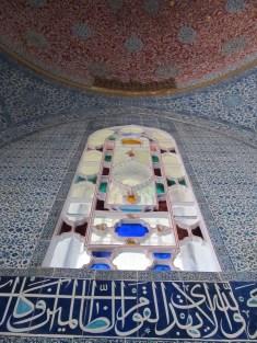 Topkapi Palace, window and tile detail. Istanbul, Turkey