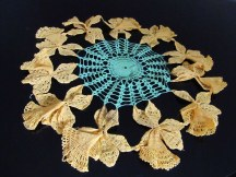 vintage crocheted daffodil doily, photo by quirkyjazz aka Jill