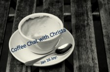 Jan 16 Joy: Coffee Chat with Christa; coffee cup image by Doug Wheller via Flickr CC