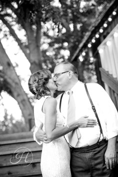 Black and White Fox Canyon Vineyards Wedding Photography